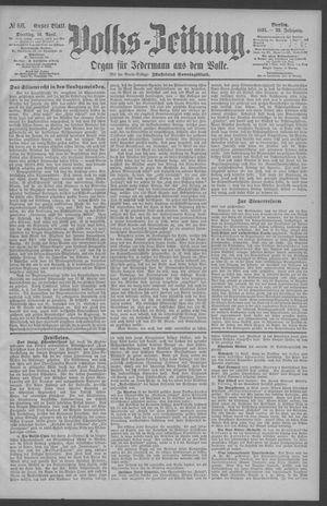 Berliner Volkszeitung vom 14.04.1891