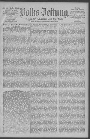 Berliner Volkszeitung vom 18.04.1891