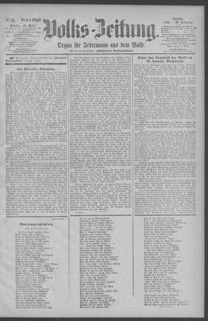 Berliner Volkszeitung vom 19.04.1891