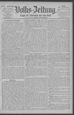 Berliner Volkszeitung vom 21.04.1891