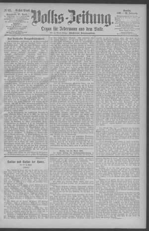 Berliner Volkszeitung vom 25.04.1891