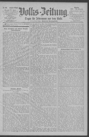 Berliner Volkszeitung vom 26.04.1891