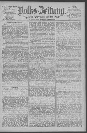 Berliner Volkszeitung vom 28.04.1891