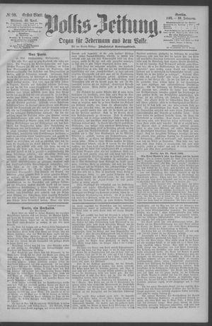 Berliner Volkszeitung vom 29.04.1891