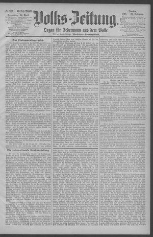 Berliner Volkszeitung vom 30.04.1891
