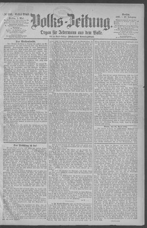 Berliner Volkszeitung vom 01.05.1891