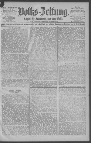 Berliner Volkszeitung vom 07.05.1891