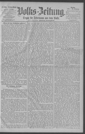 Berliner Volkszeitung vom 12.05.1891