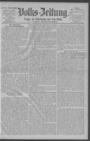Berliner Volkszeitung vom 14.05.1891