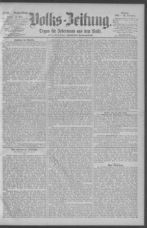 Berliner Volkszeitung vom 15.05.1891