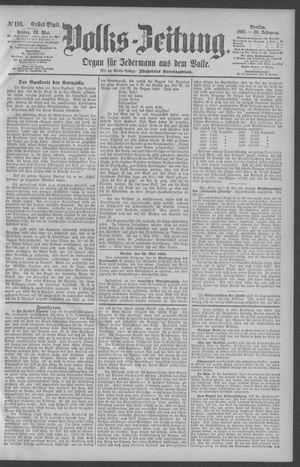 Berliner Volkszeitung vom 22.05.1891