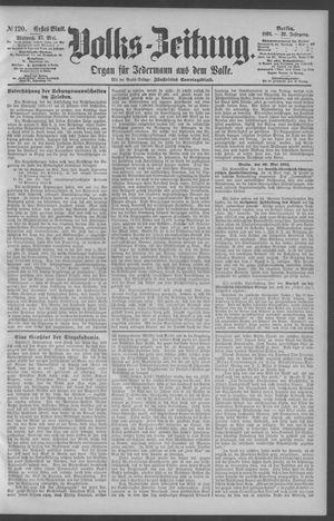 Berliner Volkszeitung on May 27, 1891