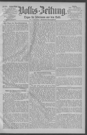 Berliner Volkszeitung vom 06.06.1891