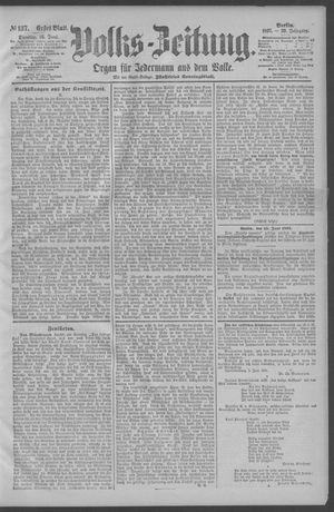Berliner Volkszeitung vom 16.06.1891