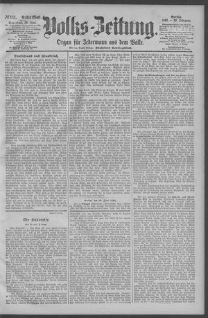 Berliner Volkszeitung vom 20.06.1891