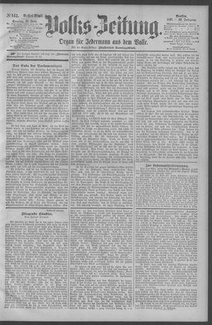 Berliner Volkszeitung vom 21.06.1891