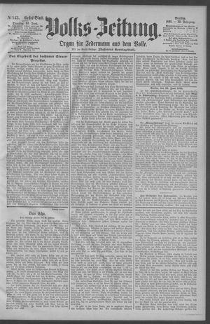 Berliner Volkszeitung vom 23.06.1891