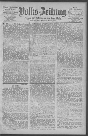 Berliner Volkszeitung vom 24.06.1891