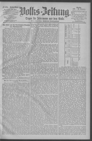 Berliner Volkszeitung vom 25.06.1891