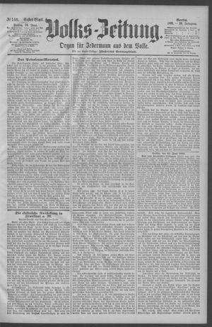 Berliner Volkszeitung vom 26.06.1891