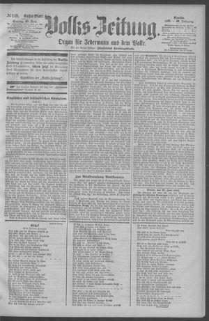 Berliner Volkszeitung vom 28.06.1891