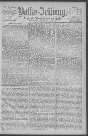 Berliner Volkszeitung vom 11.01.1894