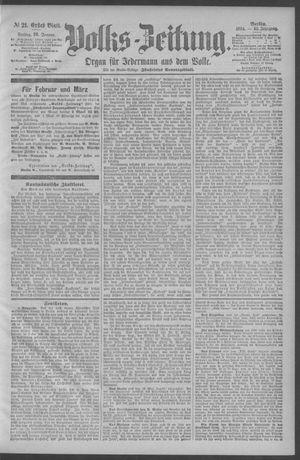 Berliner Volkszeitung vom 26.01.1894