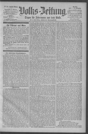 Berliner Volkszeitung vom 01.02.1894