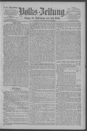 Berliner Volkszeitung vom 11.02.1894