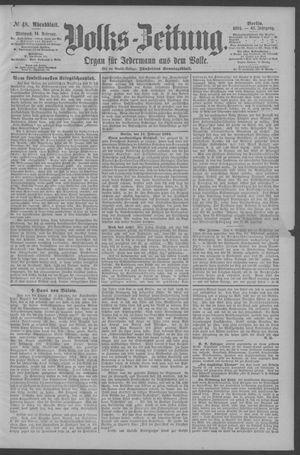 Berliner Volkszeitung vom 14.02.1894
