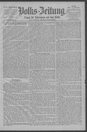 Berliner Volkszeitung vom 22.02.1894