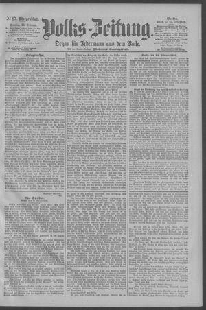 Berliner Volkszeitung vom 25.02.1894