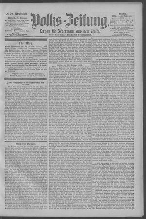 Berliner Volkszeitung vom 28.02.1894