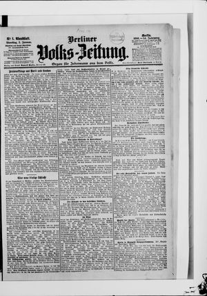 Berliner Volkszeitung vom 02.01.1906