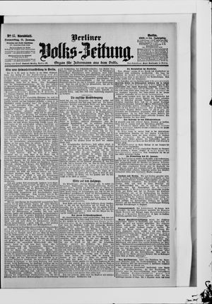 Berliner Volkszeitung vom 11.01.1906