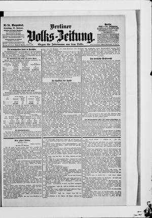Berliner Volkszeitung vom 16.01.1906