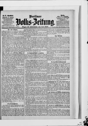 Berliner Volkszeitung vom 17.01.1906