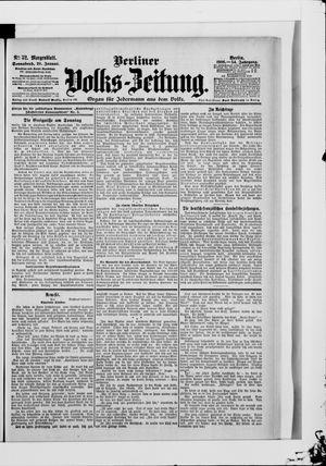 Berliner Volkszeitung vom 20.01.1906