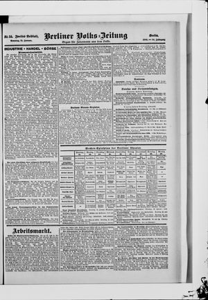 Berliner Volkszeitung vom 21.01.1906
