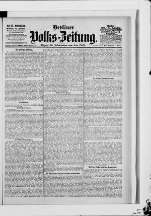 Berliner Volkszeitung vom 22.01.1906