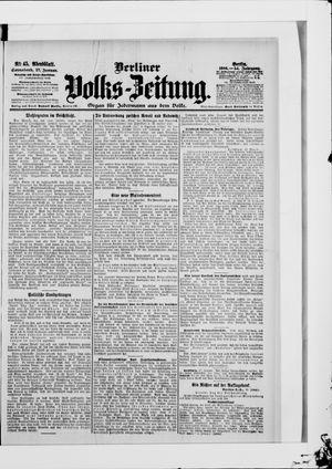 Berliner Volkszeitung vom 27.01.1906