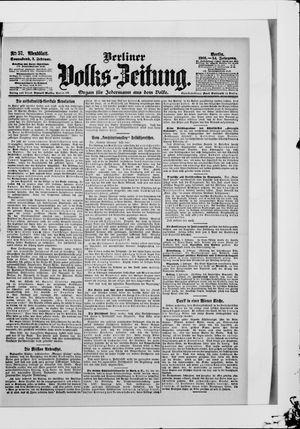 Berliner Volkszeitung vom 03.02.1906