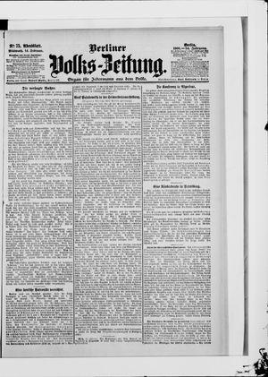 Berliner Volkszeitung on Feb 14, 1906