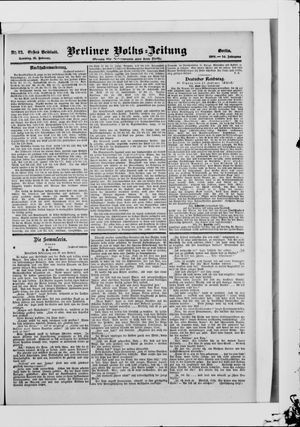 Berliner Volkszeitung vom 18.02.1906