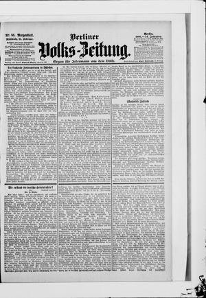 Berliner Volkszeitung vom 21.02.1906