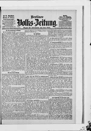 Berliner Volkszeitung vom 26.02.1906