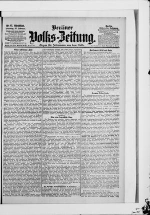 Berliner Volkszeitung vom 27.02.1906