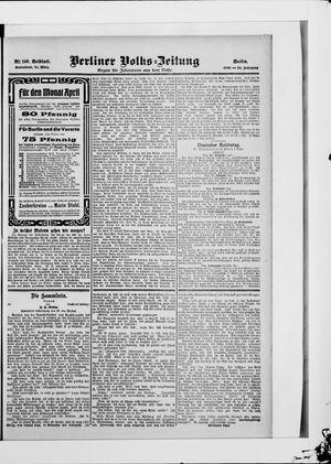 Berliner Volkszeitung vom 24.03.1906