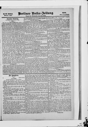 Berliner Volkszeitung vom 04.04.1906