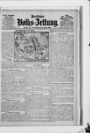Berliner Volkszeitung vom 09.04.1906